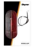 WIDE LIGHT LED RED / WHITE LEFT (1PC)