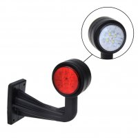 WIDE LIGHT RED / WHITE 160MM 8LED ANGLE (1PC)