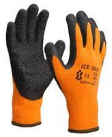 WINTER HANDSCHOEN ORANJE/ZWART MET LATEX GRIP MT10 (1PAAR)